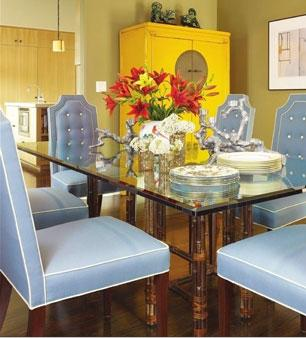 Damask Dining Chairs Transitional Dining Room Benjamin Moore