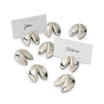 Silver Fortune Cookie Place Card Holders Set Of 8 Gump