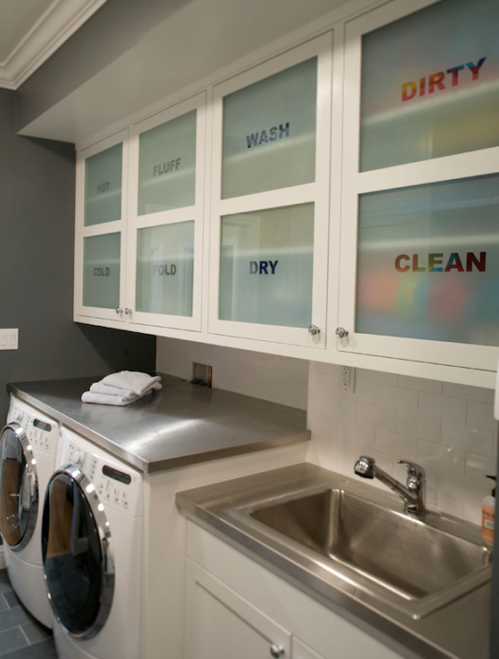 Lundry room cabinets contemporary laundry room for Cupboards for laundry room