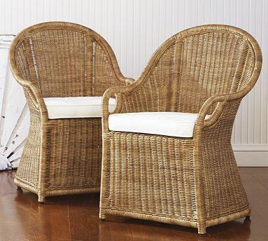 Wingate Rattan Dining Armchair  Pottery Barn Link On Pinterest View Full  Size Pottery Barn Rattan Chair C52