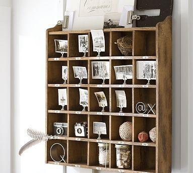Cubby Organizer Natural Stain Pottery Barn