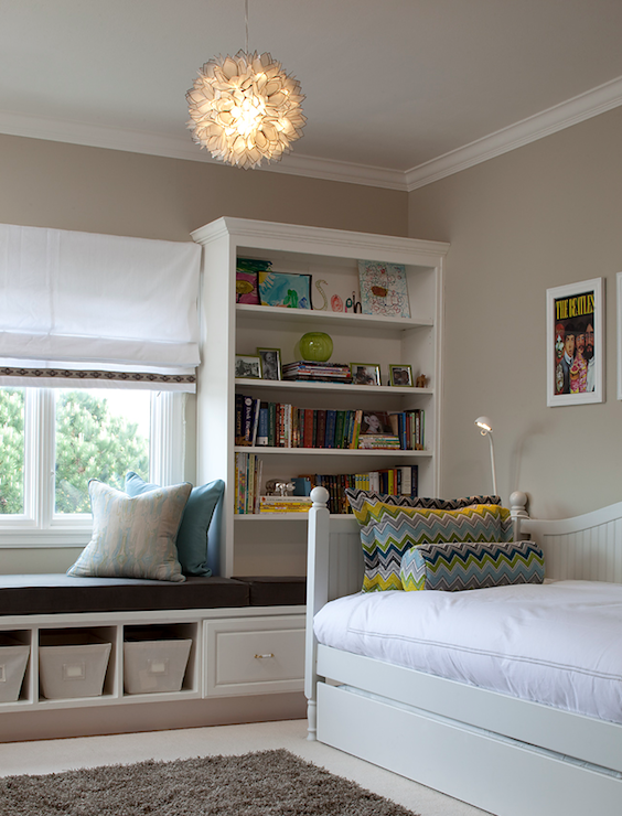 Built In Daybed With Shelves Design Ideas
