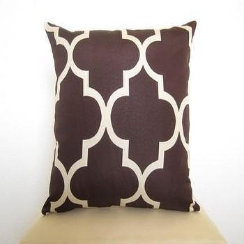 Lattice Work Designer Pillow 18 inch / Java and by WillaSkyeHome