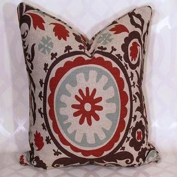 Suzani Pillow by decorativeinstincts on Etsy