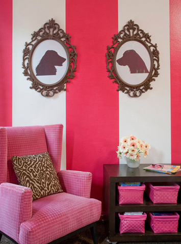 Pink Velvet Chair Eclectic Nursery