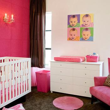 Hot Pink Nursery, Contemporary, nursery