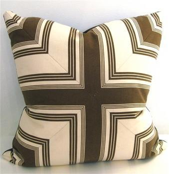 Brown Mitered Pillow, Pieces