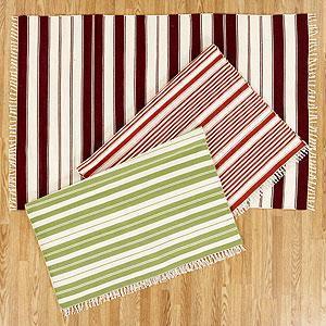 Boro Stripe Printed Jute Rug Soot West Elm