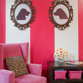 Pink Velvet Chair, Eclectic, nursery