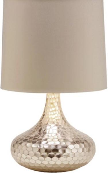 Tortoise Silver Bottle Neck Glass Table Lamp Arteriors Home Modern