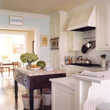 Beadboard Kitchen Cabinets, Cottage, kitchen, Elizabeth Martin Design