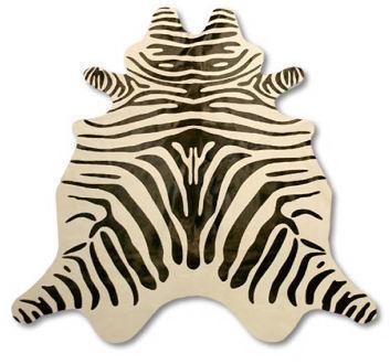 Zebra Cowhide Rug Cow Hide Skin