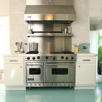 Turquoise Blue Floor- Contemporary, kitchen, Windsor Smith Home