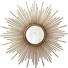 Sunburstâ?¢ Antiqued Gold Wall Mirror - Wall Mirrors - Wall ...