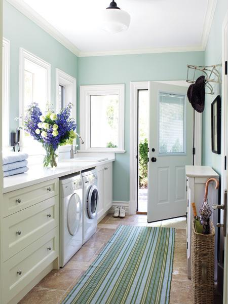 Image result for pale green laundry room