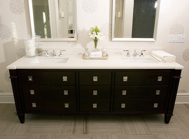 Black Double Vanity Transitional Bathroom Dresser Homes