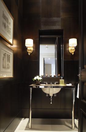 Black Powder Room Contemporary Bathroom Ted Yarwood