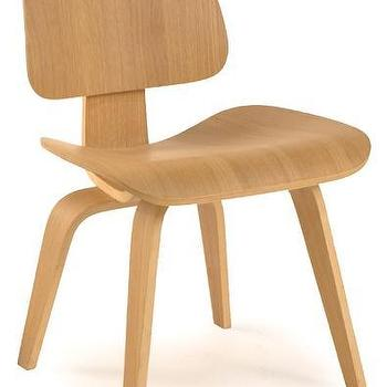 Madeira Contemporary Dining Side Chair In Natural Finish
