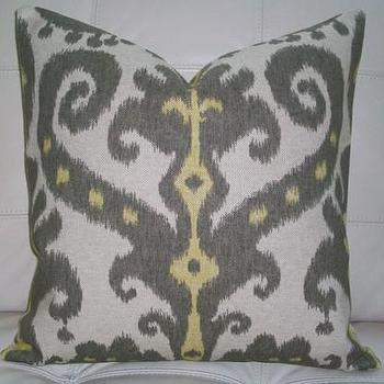 Decorative Designer Pillow Cover 16X16 IKAT by elegantouch