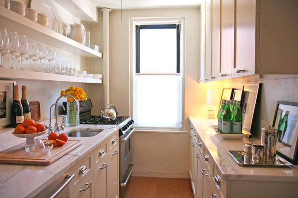 Small Galley Kitchen Design Ideas With White Appliances ~ Galley kitchen design ideas