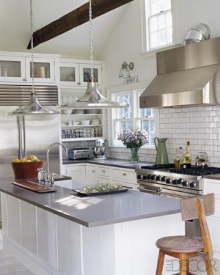 Grey Counters Cottage Kitchen