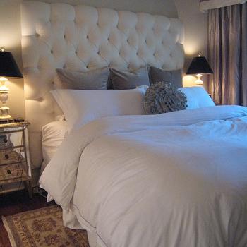 Velvet Tufted Headboard, Contemporary, bedroom, Meredith Heron Design