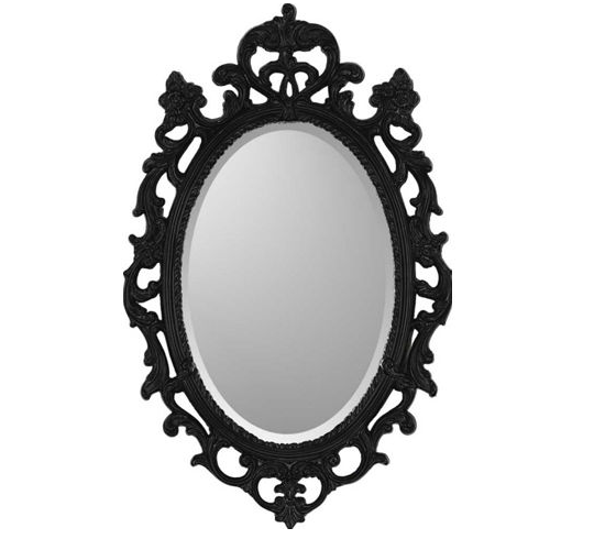 Csn mirrors paragon black ornate traditional wall mirror 142 00