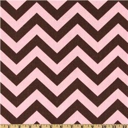 Premier Prints ZigZag Kelso Brown/Maggie Pink, Discount Designer Fabric, Fabric.com