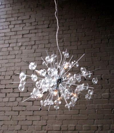 Glass Modern Chandelier Solaria Large Light Dining Room Lighting