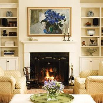 Built In Fireplace Cabinets Design Ideas