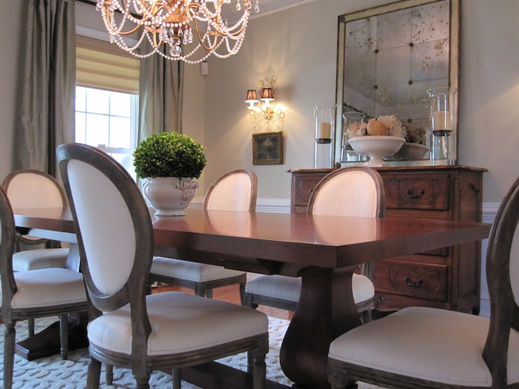 view full size & Gray Round Back French Dining Chairs Design Ideas
