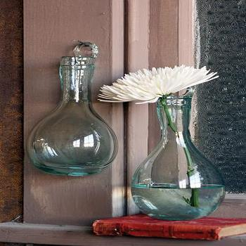 recycled teardrop vase