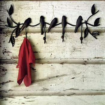 recycled bird coat rack