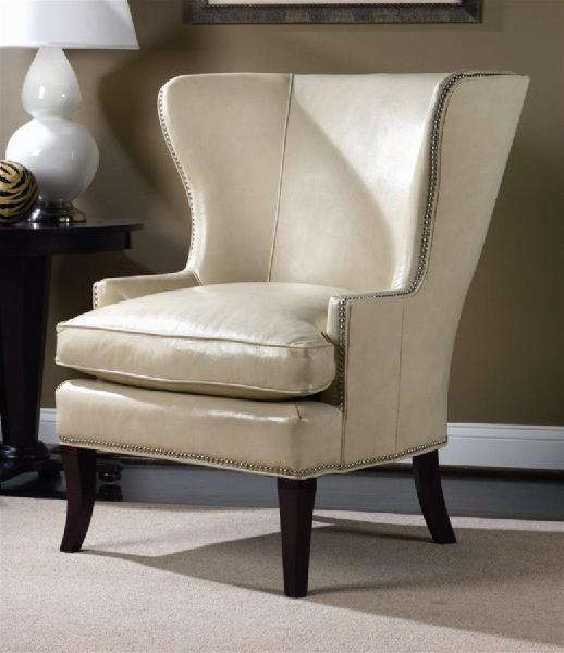 Superior Hamlin White Leather Wing Chair