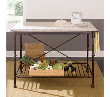 French Chefs Black Kitchen Island With Shelf - Kitchen island crate and barrel