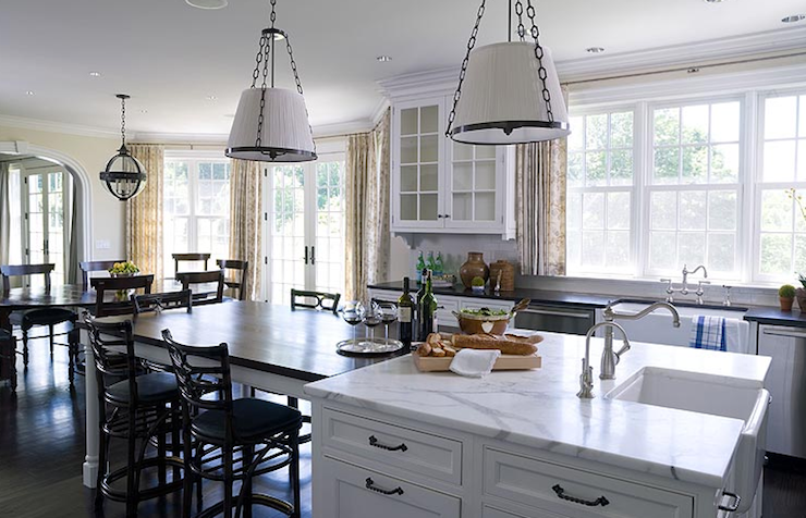 Kitchen Island Dining Table Transitional Kitchen