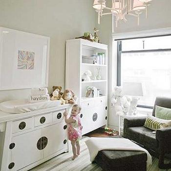 Chinoiserie Changing Table, Transitional, nursery, Lori Graham Design
