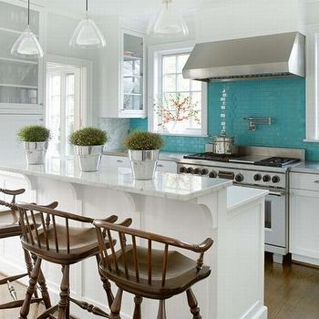 Turquoise Kitchen Cabinets Design Ideas