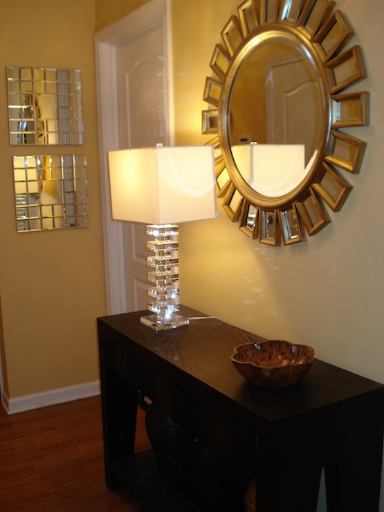 Art Deco Foyer Table : Home goods mirror and lamp transitional
