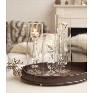 Light Opera Set Of Three Candlestick Tealight Candle Holders / Vases In Candleholders From Bellacor