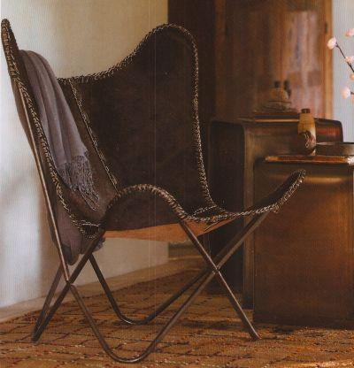 clayton gray home estancia butterfly chair view full size
