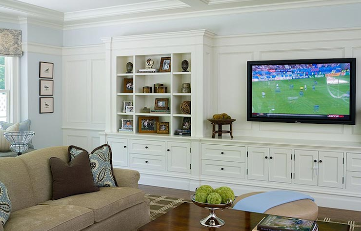 Living Room Media Furniture Built In Cabinets Design Ideas