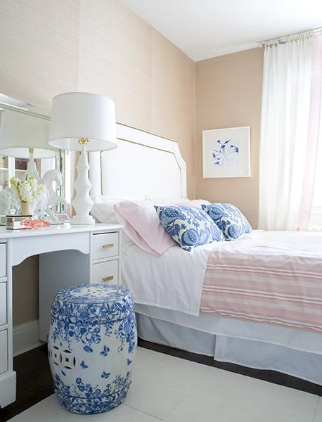 ... Pure Design - pink u0026 blue modern french bedroom design with soft pink walls paint color white nailhead trim headboard white u0026 blue garden stool ... & Ballard Designs Stevenson Headboard with Brass Nailhead Trim ... islam-shia.org