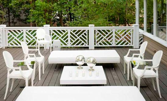 Kartell Garden Furniture White outdoor furniture contemporary deckpatio martensen white outdoor furniture workwithnaturefo