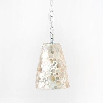 George Shell Fiberglass Pendant Light Worlds Away Lighting Hanging chandelier Silver Kitchen Island