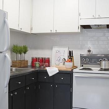 Black and White Kitchen, Contemporary, kitchen, Samantha Pynn