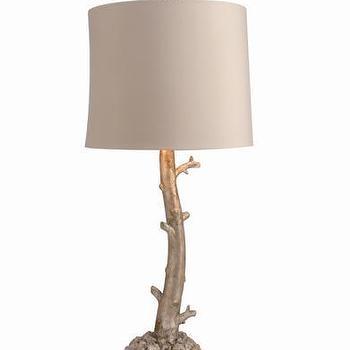 Hazelnut New Orleans Silverstone Branch Lamp