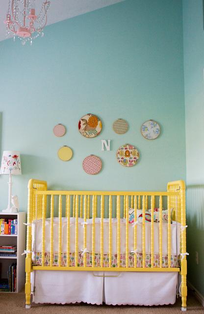 Yellow Nursery Crib Vintage Nursery Apartment Therapy
