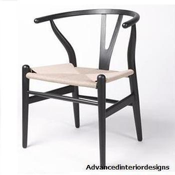 baxton studio wishbone black wood y dining chair overstock com