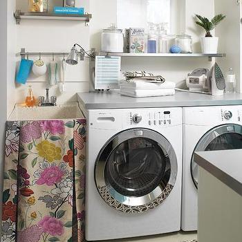 Skirted Laundry Room Sink, Transitional, laundry room, House & Home
